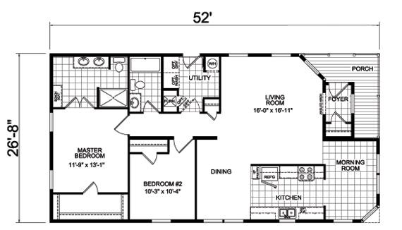 ponderosa manufactured home floor plan