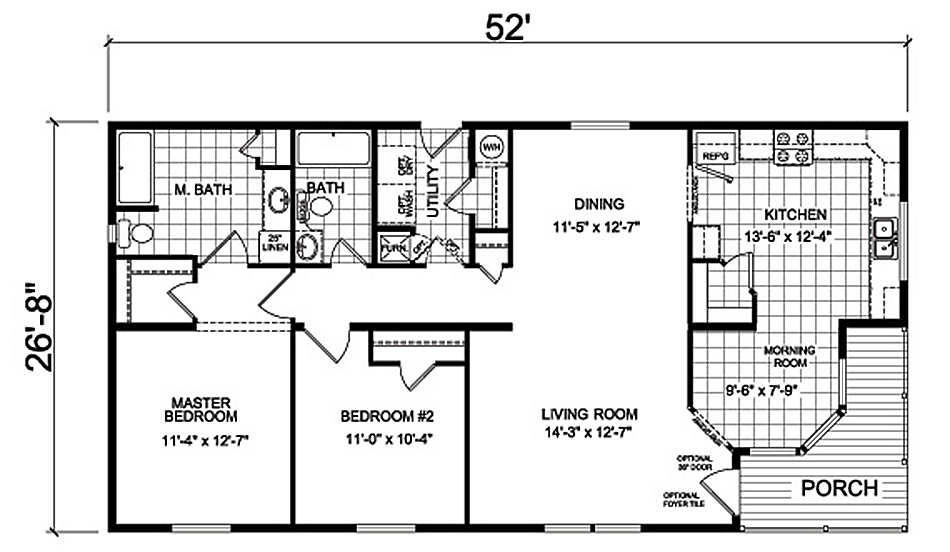 floor plans and specifications of the Tamarack home design