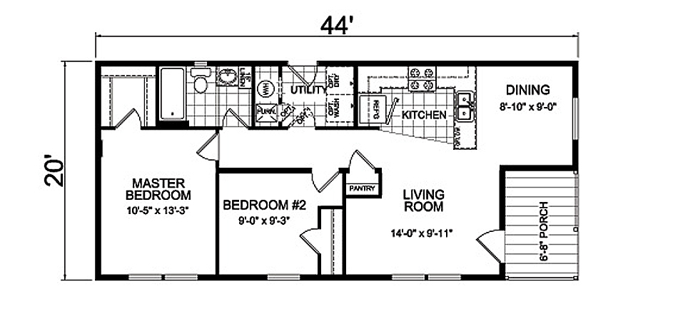 floor plans and specifications of the Willow home design