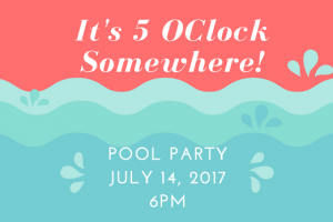 Sign up for the Pool Party