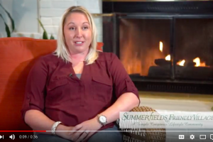 video testimonial quiet clean safe environment that summerfields friendly village provides