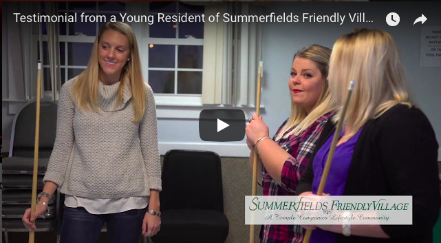 Video Testimonial from young resident of Sumerfields Friendly Village