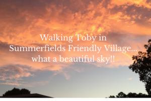 What a Beautiful Sky in Summerfields Friendly Village