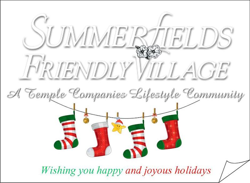 Summerfields Friendly Village Wishing You a Happy and Joyous Holiday