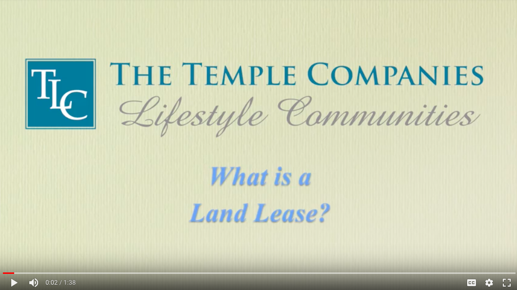 The Temple Companies What is a land lease? Video