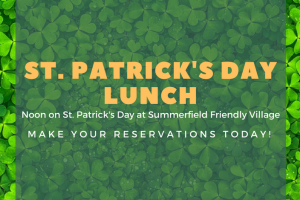 RSVP St. Patrick's Day Lunch