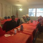 Christmas Tea at Friendly Village with neighbors