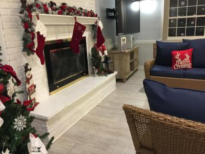 Clubhouse decorated for Xmas