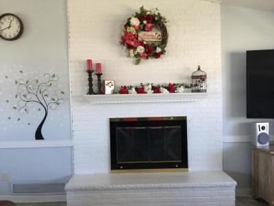 Clubhouse Fireplace during Valentines Day